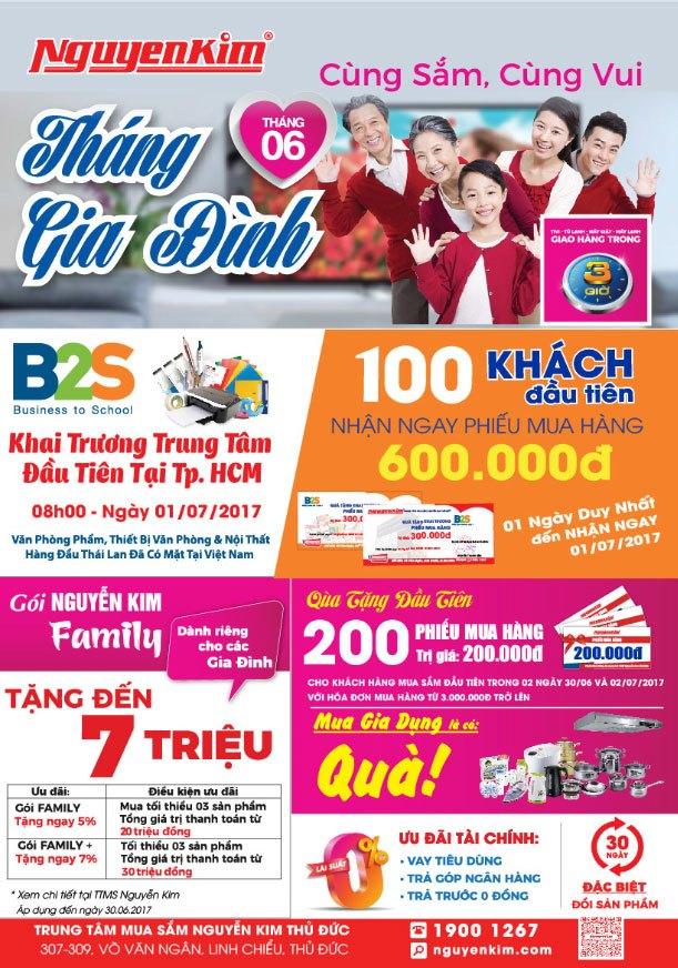B2S tặng phiếu mua hàng trị giá 600 ngàn cho 100 khách hàng đầu tiên