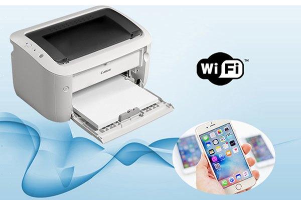 Máy in Imageclass LBP6030W có thể kết nối WiFi giúp công việc in ấn được dễ dàng hơn