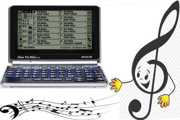 Nghe nhạc giải trí sau thời gian học mệt mỏi là điểm nổi trội của kim từ điển SD 363M