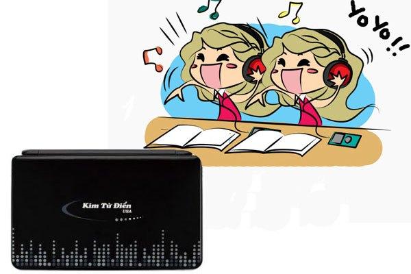 Bên cạnh tính năng tra từ, kim từ điển GD 7100M còn có thể phát nhạc, chơi game, xem phim...