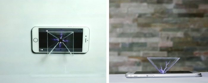 Đặt máy chiếu 3D lên điện thoại