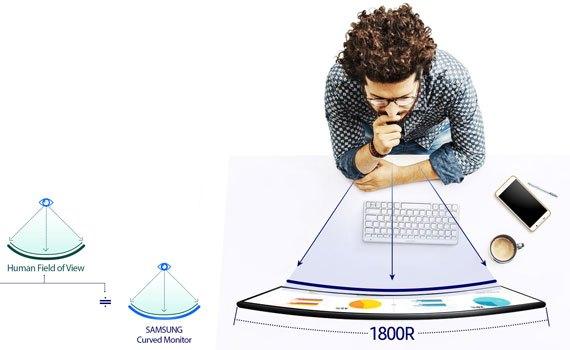 Màn hình vi tính Samsung LC24F390FHEXXV kiểu dáng sang trọng, trang nhã