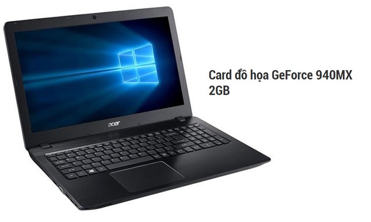 Laptop Acer Aspire F5-573G 50L3 trang bị card đồ họa mạnh mẽ