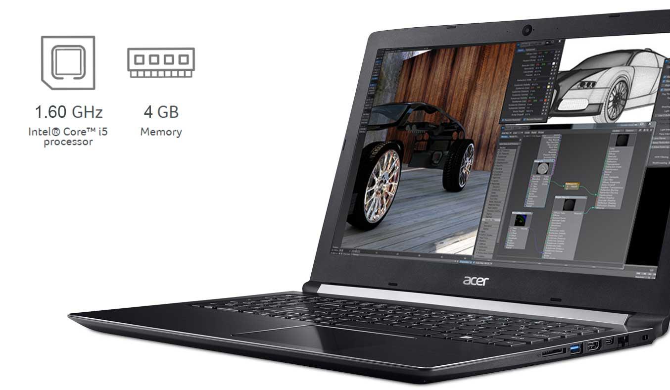 Laptop Acer Aspire A515-51G-51EM thiết kế nhỏ gọn