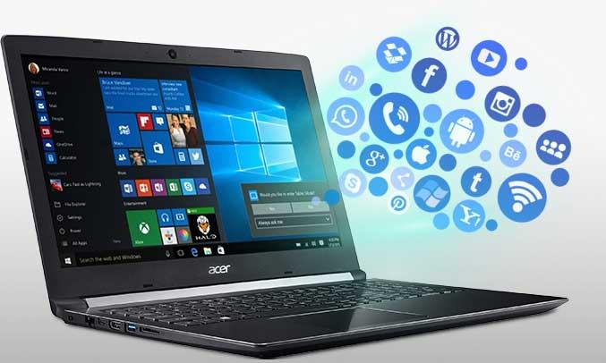 Laptop Acer Aspire A515-51G-51EM card đồ họa chất lượng