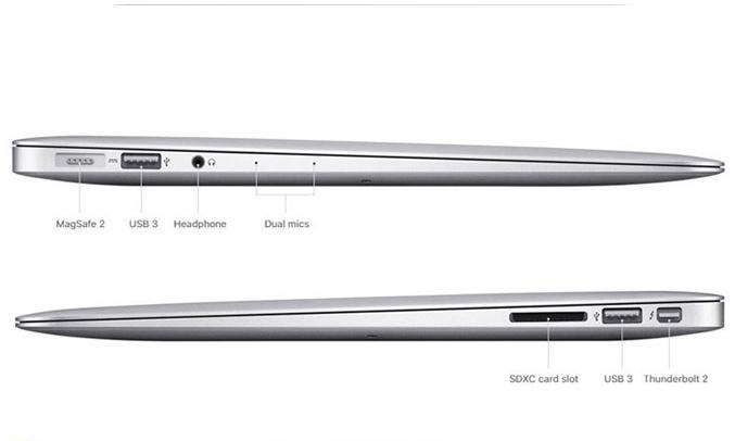 Macbook Air 13.3 inch 2017 (MQD32SA/A) kết nối nhanh chóng