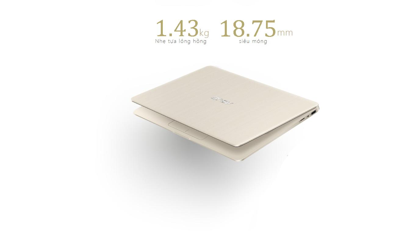Laptop AsusVivobook S14 S410UA-EB015T thiết kế nhỏ gọn
