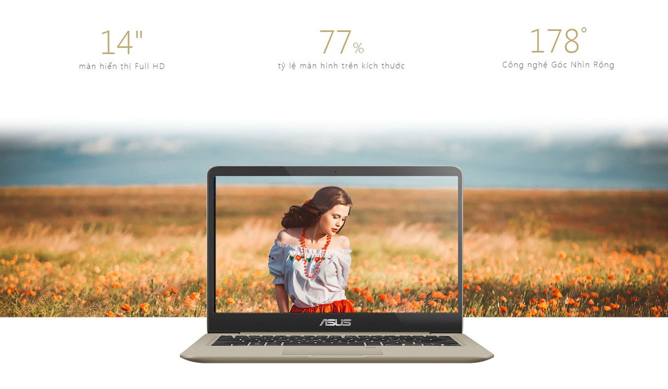 Laptop AsusVivobook S14 S410UA-EB015T màn hình 14 inch