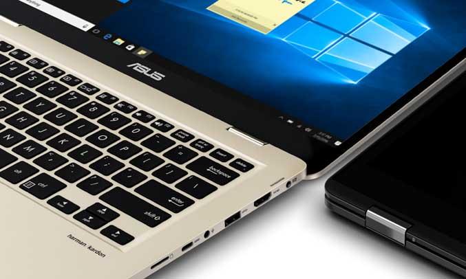 Laptop AsusZenbook Flip 14 UX461UA - E1127T bàn phím phát sáng hiện đại