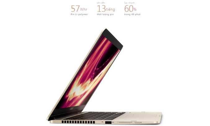 Laptop AsusZenbook Flip 14 UX461UA - E1127T thời lượng pin lâu bền