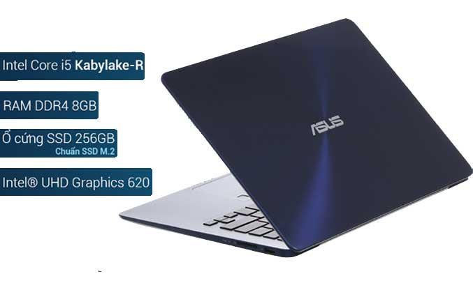 Máy tính xách tay Asus Zenbook UX430UA có dung lượng lưu trữ lớn