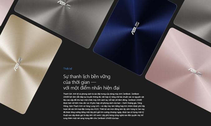 Laptop Asus Zenbook UX430UA-GV340T vỏ máy sang chảnh