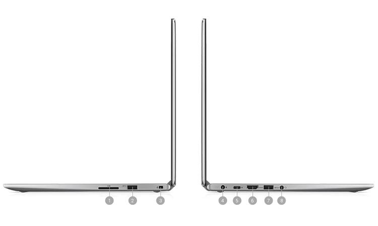 Laptop Dell Inspiron 13 7373 (C3TI501OW) đầy đủ kết nối cần thiết