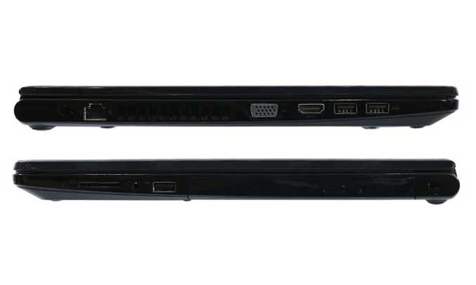 Máy tính xách tay Dell Laptop trang bị đầy đủ nhiều cổng kết nối hiện đại