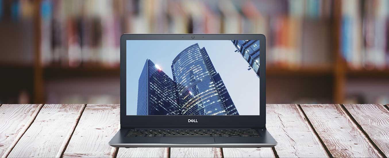 Laptop Dell VostroV5370A - P87G001 có ngoại hình cuốn hút với thiết kế thân máy hơi bo tròn