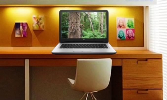Laptop HP 14 AM056TU X1H03PA có thiết kế nhỏ gọn