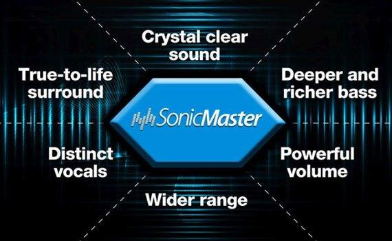 Nghe nhạc tuyệt hảo cùng công nghệ âm thanh SonicMaster