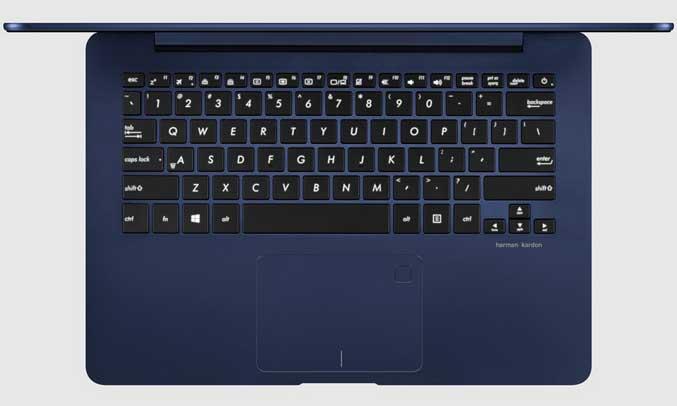 máy tính xách tay Asus UX430UA-GV049 đó chính là bộ bàn phím hiện đại, độ nẩy tốt, đánh máy vô cùng êm ái