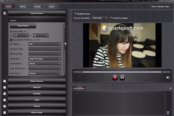 SparkoCam hỗ trợ bạn khả năng chỉnh sửa sao cho chất lượng hiển thị tốt nhất