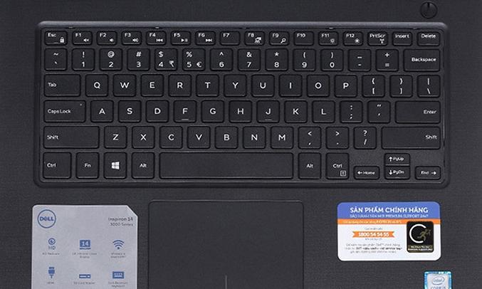 Máy tính xách tay Dell Inspiron N3467 (N3467A-P76G002) dễ thao tác