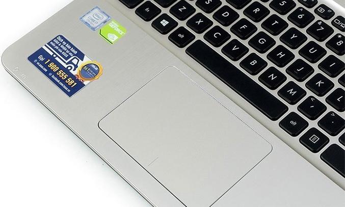 Laptop Asus X541UV-XX037D touchpad siêu nhạy
