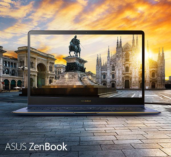 Laptop ASUS ZenBook Flip S có màn hình có góc nhìn rộng, độ sáng vừa phải và hiển thị màu sắc chuẩn