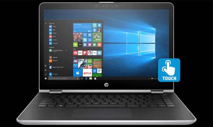 Máy tính xách tay HP Pavilion X360 14-BA065TU (2GV27PA) bạc bàn phím êm ái