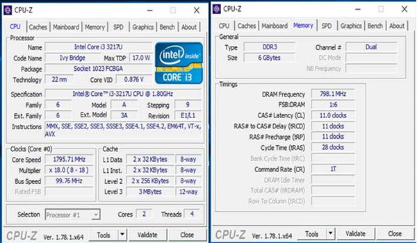 Kiểm tra thông số trên RAM laptop bằng CPUZ
