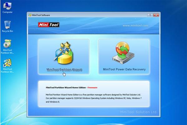 Những tính năng được trang bị trên MiniTool Partition Wizard Home Edition.
