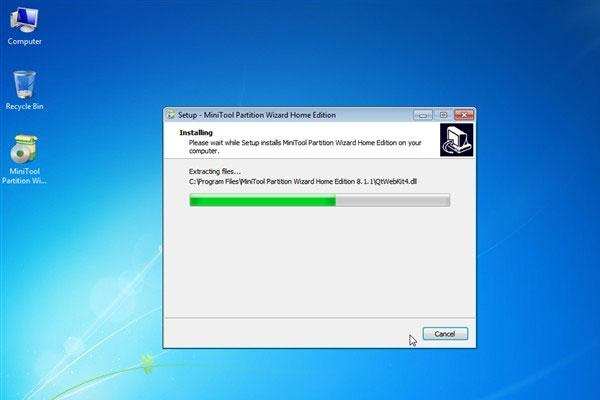 Quá trình cài đặt chương trình chỉ mất vài giây là hoàn thành.