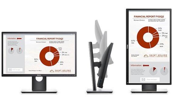 Thiết kế màn hình máy tính Dell Pro P2217H mỏng gọn, sang trọng