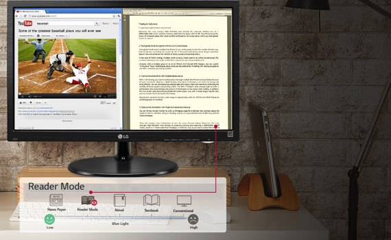 Màn hình máy tính LG 19M38A kiểu dáng sang trọng, trang nhã