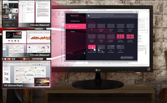 Màn hình máy tính LG 19M38A có độ phân giải 1366x768 pixels