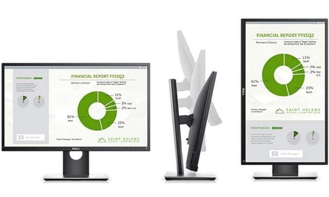 Màn hình vi tính Dell P2417H điều chỉnh linh hoạt