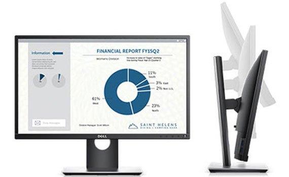 Thiết kế màn hình máy tính Dell Pro P2317H mỏng gọn, sang trọng