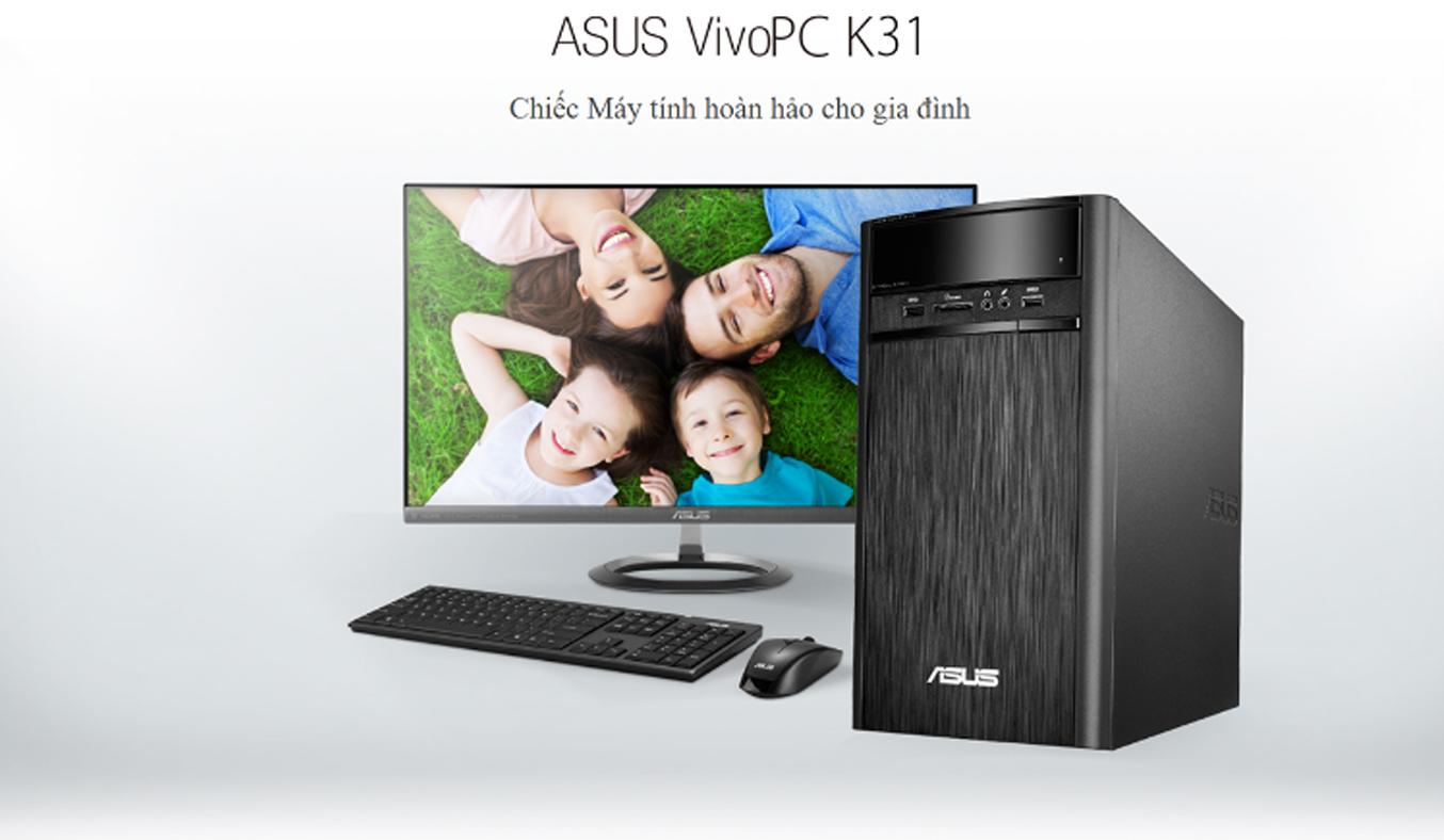 Máy tính để bàn AsusK31CD-K-VN012D vi xử lý mạnh mẽ, ổn định