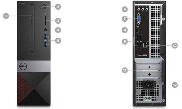 Máy tính để bàn Dell Vostro 3268 (Core I5) dung lượng lưu trữ lớn