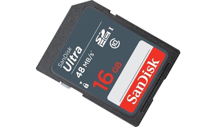 Thẻ nhớ SDHC Ultra C10 Sandisk 16GB dung lượng lớn