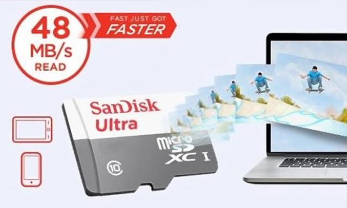 Thẻ nhớ SDHC Ultra C10 Sandisk 16GB tiện dụng