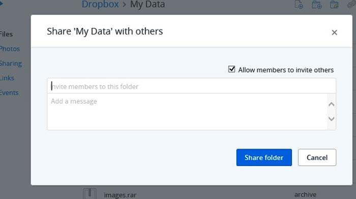 Cách chia sẻ dữ liệu trên Dropbox