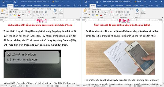 Mẹo ghép file Word có thể áp dụng cho các phiên bản Word từ 2007 - 2016