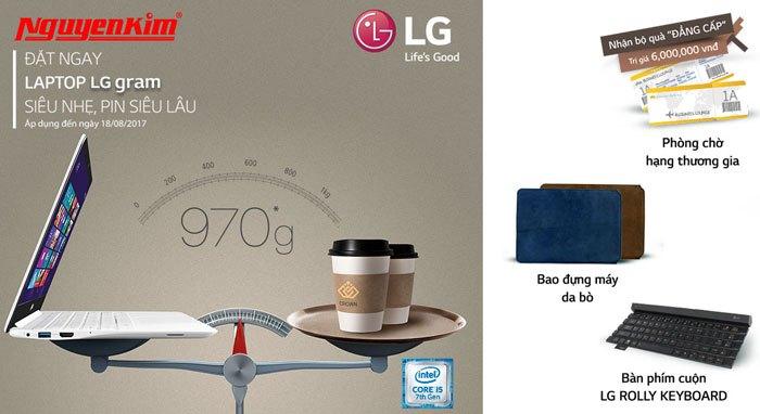 Quà tặng xứng tầm đẳng cấp dành cho laptop LG Gram đang chờ bạn tại Nguyễn Kim