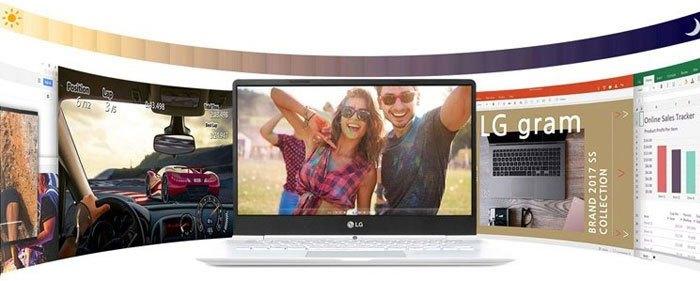Sử dụng nhiều giờ liền không lo hết pin với laptop LG Gram 14 inch ZD970-G