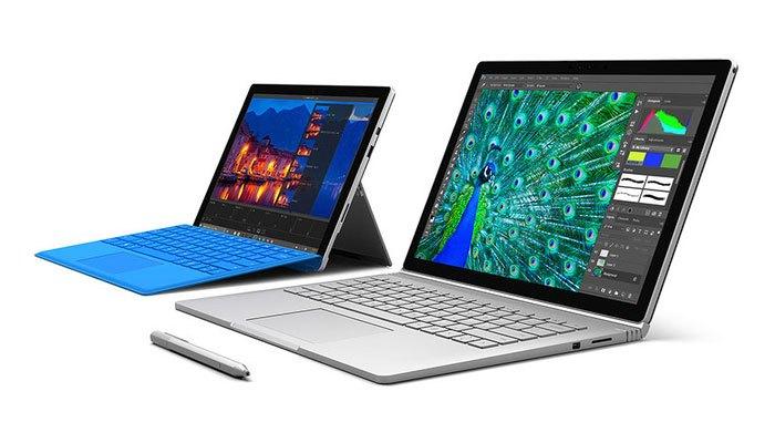 Máy tinh bảng Surface Pro 5 nâng cấp pin