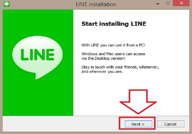 Nhấn vào fileLineInst.exe, chọn ngôn ngữ và nhấn Next.