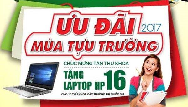 16 thủ khoa sẽ nhận được quà chúc mừng của Nguyễn Kim là chiếc laptop HP