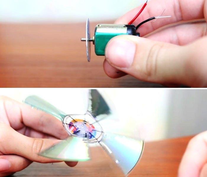 Quạt chế mini chạy bằng cổng USB của laptop