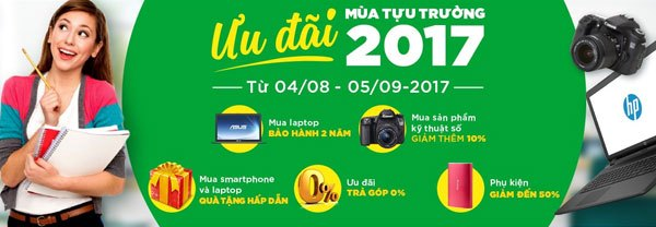 Ưu đãi hấp dẫn dành khi mua laptop tại Nguyễn Kim
