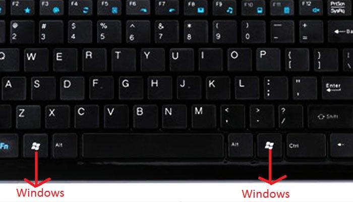 Phím Windows trên bàn phím máy tính có 2 cái
