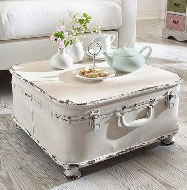 Vẻ ngoài của những chiếc vali dễ dàng mang đến không gian phòng khách đậm chất retro hoặc vintage